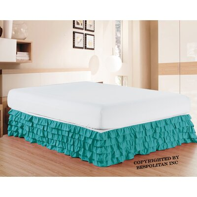 Klingler Premium Quality 1500 Thread Count Bed Skirt Color: Turquoise