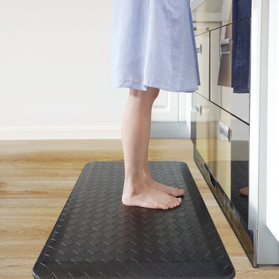 Anti-Fatigue Comfort Kitchen Mat Color: Black