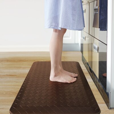 Anti-Fatigue Comfort Kitchen Mat Color: Brown