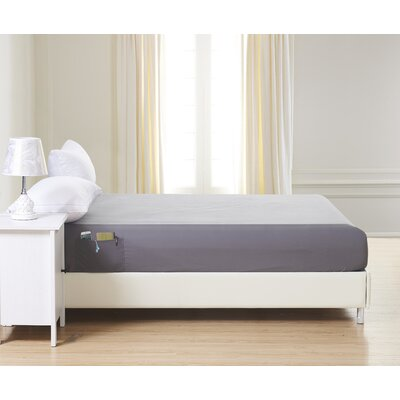 1500 Thread Count Fitted Sheet Color: Gray, Size: Queen