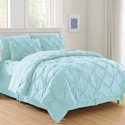 Haverford Luxury Best Bed-In-a-Bag Set Size: Full/Queen, Color: Aqua