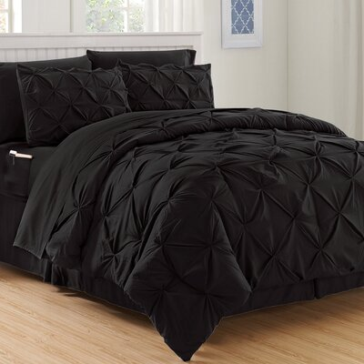 Haverford Luxury Best Bed-In-a-Bag Set Size: Full/Queen, Color: Black