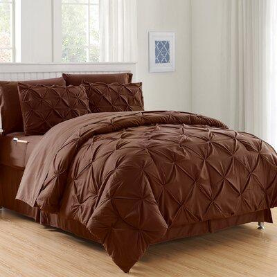 Haverford Luxury Best Bed-In-a-Bag Set Size: Full/Queen, Color: Brown