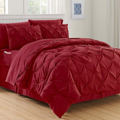 Haverford Luxury Best Bed-In-a-Bag Set Size: Twin/Twin Xl, Color: Burgundy