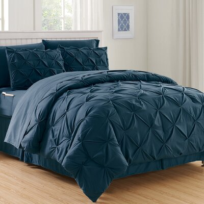 Haverford Luxury Best Bed-In-a-Bag Set Size: King/California King, Color: Navy Blue