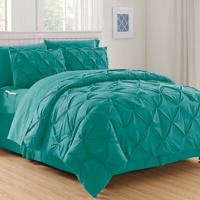 Haverford Luxury Best Bed-In-a-Bag Set Size: Full/Queen, Color: Turquoise