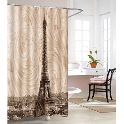 Eiffel Heavy-Weight Waterproof Vinyl Shower Curtain