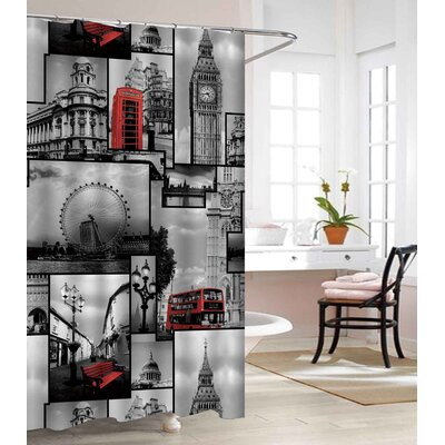 London Land Heavy-Weight Waterproof Vinyl Shower Curtain