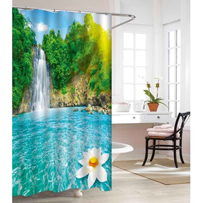 Waterfall Heavy-Weight Waterproof Vinyl Shower Curtain