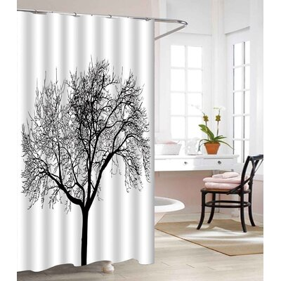 Tree Design Heavy-Weight Waterproof Vinyl Shower Curtain