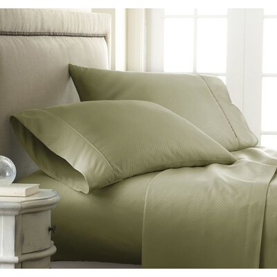 Hartman 1500 Thread Count Microfiber Sheet Set Color: Green, Size: California King