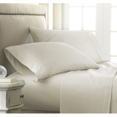 Hartman 1500 Thread Count Microfiber Sheet Set Color: Cream, Size: Full
