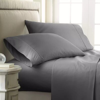 Hartman 1500 Thread Count Microfiber Sheet Set Color: Gray, Size: Queen