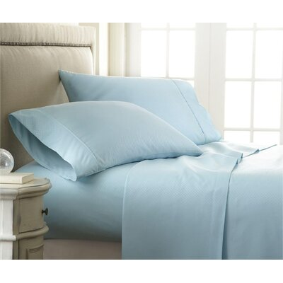 Hartman 1500 Thread Count Microfiber Sheet Set Color: Aqua, Size: Queen