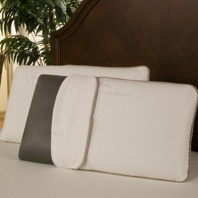Rayon from Bamboo Charcoal Memory Foam Pillow Size: King