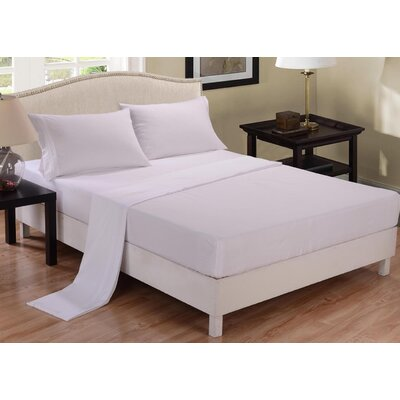 3 Piece Sheet Set Color: White, Size: Twin