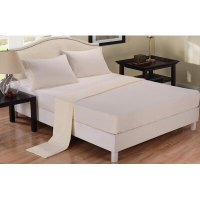 3 Piece Sheet Set Color: Ivory, Size: Queen