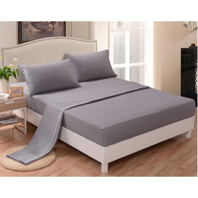 3 Piece Sheet Set Color: Gray, Size: Twin