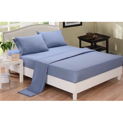 3 Piece Sheet Set Color: Blue, Size: Queen