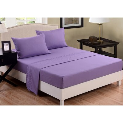 3 Piece Sheet Set Color: Light Purple, Size: Queen