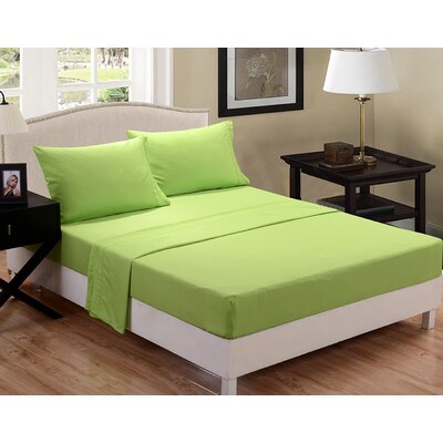 3 Piece Sheet Set Color: Lime Green, Size: Queen