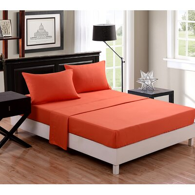 1500 Thread Count Sheet Set Color: Orange