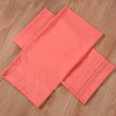 Honeymoon Bed Sheet Set Size: Twin, Color: Coral