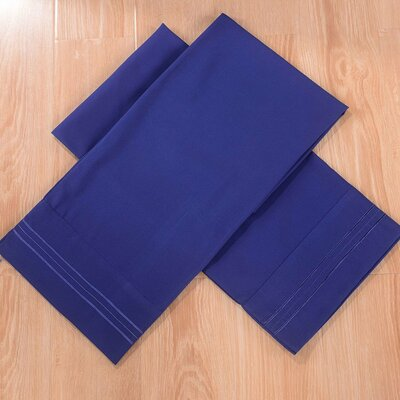 Honeymoon Bed Sheet Set Color: Navy Blue, Size: Queen