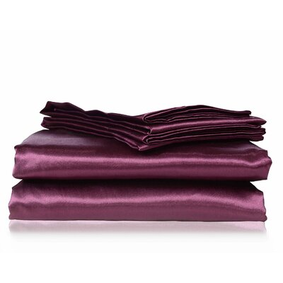 Honeymoon 4 Piece Bed Sheet Set Color: Purple, Size: King