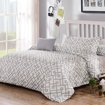 Honeymoon 3 Piece Duvet Cover Set Color: Alloy
