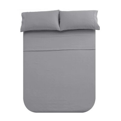 Manfredi 4 Piece Sheet set Color: Gray
