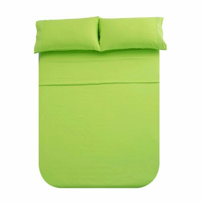 Manfredi 4 Piece Sheet set Color: Lime green
