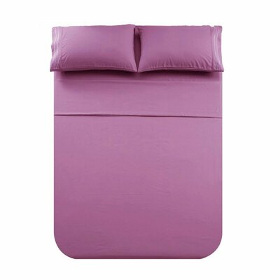 Hauben 3 Piece Sheet set Color: Purple