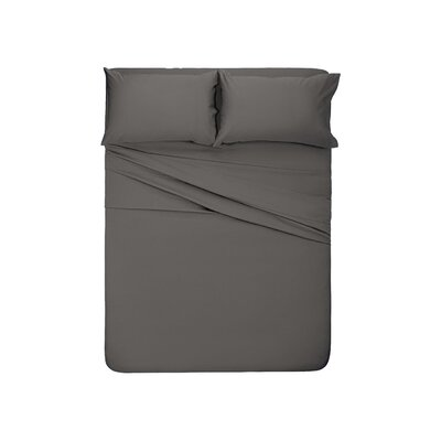 Manfredi 4 Piece Sheet set Color: Dark Gray