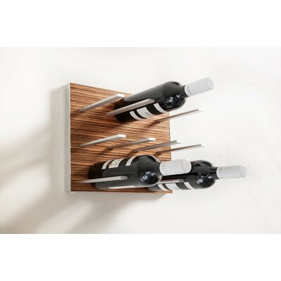 9 Bottle Wall Mounted Wine Rack Finish: Zebrano