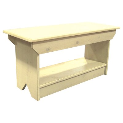 Irving Coffee Table/Bench Color: Cream