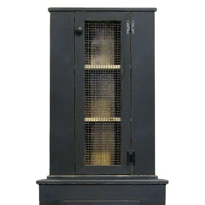 Corner China Cabinet Top Color: Old Black
