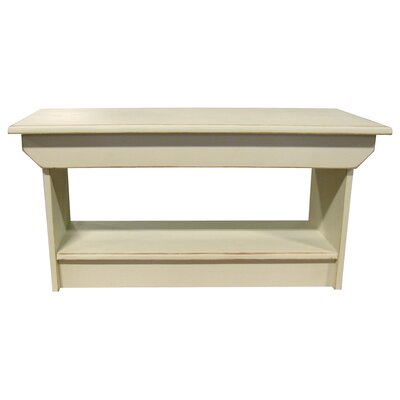 Irving Coffee Table/Bench Color: Old Cream