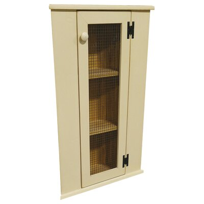 Corner China Cabinet Top Color: Old Cream