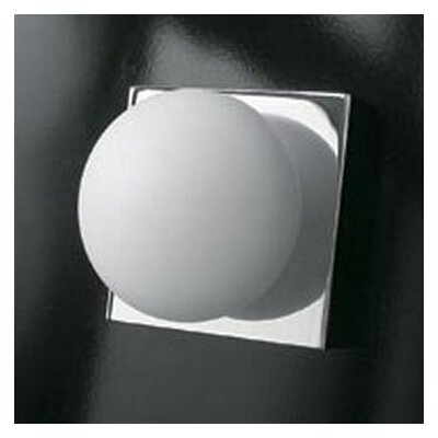 Bolla 1-Light Wall or Ceiling Light Finish: Chrome, Bulb Type: Halogen