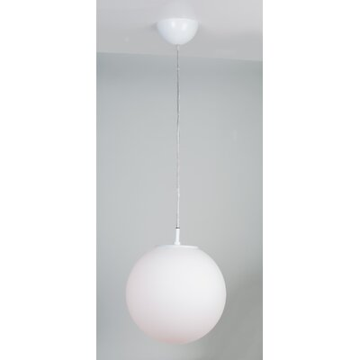 Galaxy Lux 1-Light Globe Pendant Finish: White, Size: 59 H x 12 W x 12 D