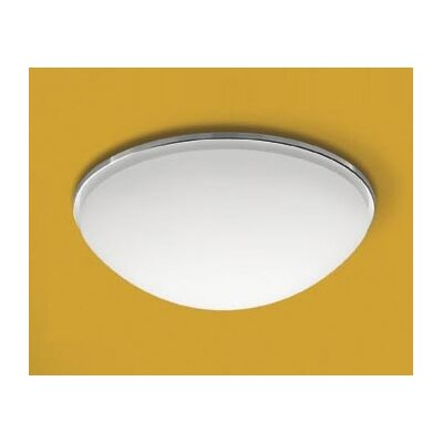 Eclipse K Flush Mount Bulb Type/Size/Finish/Glass Option/Base Option: (2)60w E26 Inc/12x4/Chrome/Regular Mount/Metal