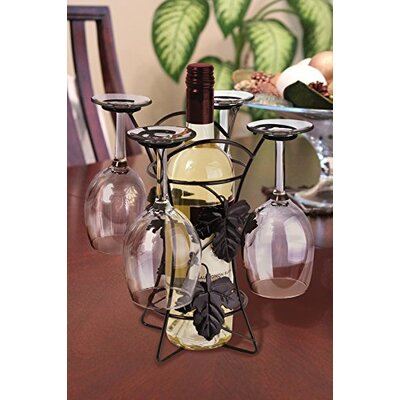 1 Bottle Tabletop Wine Glass Rack