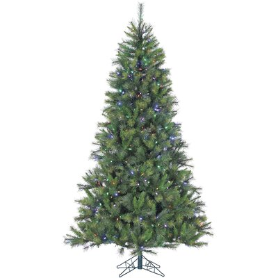 Canyon Pine 12' Green Artificial Christmas Tree with 2150 LED Multi-Colored String Lighting with Stand