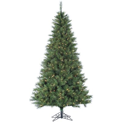 Canyon Pine 12' Green Artificial Christmas Tree with 2150 Smart String Lighting with Stand