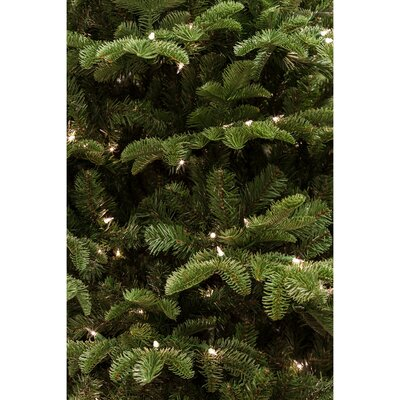 Noble Fir 7.5' Green Artificial Christmas Tree with 700 Smart String Lighting with Stand