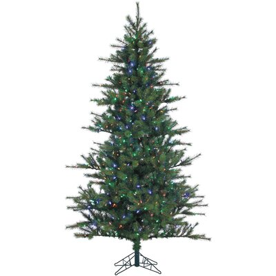 Southern Peace Pine 12' Green Artificial Christmas Tree with 1950 LED Multi-Colored String Lighting with Stand