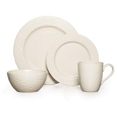 Gourmet Basics By Mikasa Hayes White 16 Piece Dinnerware Set