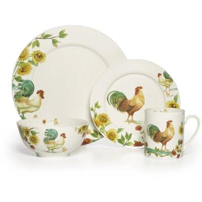 Rooster Meadow 16 Piece Dinnerware Set 5133557