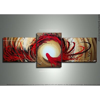 Modern Abstract 3 Piece Painting on Canvas Set OL146